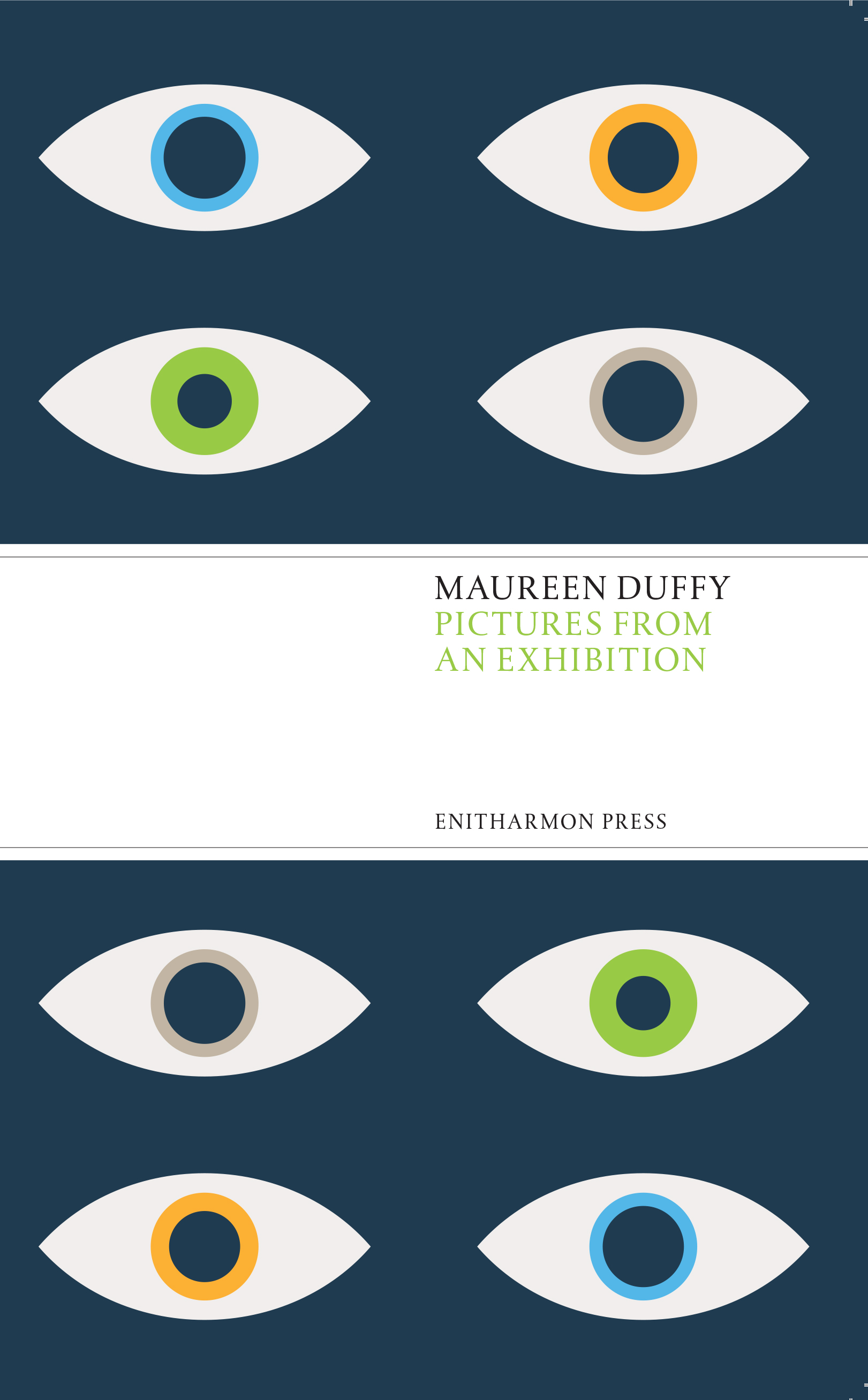 Cover, Maureen Duffy's 2016 Poetry Collection 'Pictures from an Exhibition'